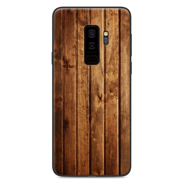 For Samsung Galaxy S9 Case Cover TPU Soft Silicone Wooden Stone Patterned Phone Case For Samsung S9 G960F Painting Cover 5.8""