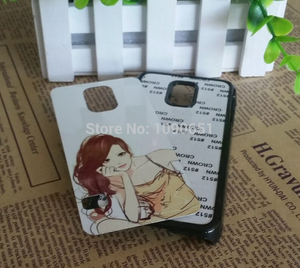 For Samsung Galaxy S5 Mini Case Sublimation Plastic Blank Phone Cover With Metal Insert 100pcs/Lot
