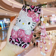 For Samsung Note9 Bling Bling 3D Crystal Hello Kitty Cabochon DIY Phone Case For Samsung Galaxy S9 S8 Plus Note8 Luxury Cover