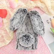For Sony Xperia XA Ultra Case 3D Cute Rabbit Hairy Warm Fur Plush Bunny Case Cover For Coque Soni Experia XA Ultra C6 Phone Case