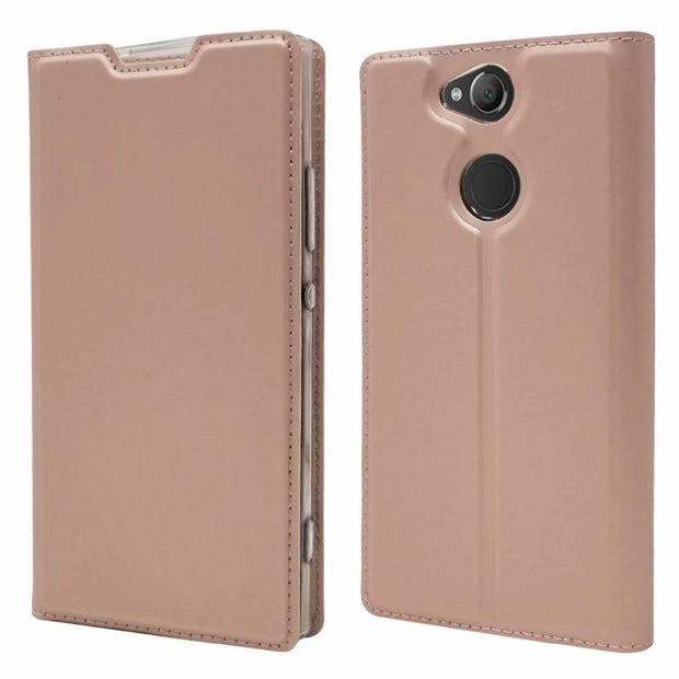 For Sony Xperia XA2 Plus Flip Case Magnetic Book Kickstand Card Protective Shell Wallet Leather Cover