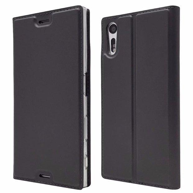 For Sony Xperia XZ XZs Flip Case Magnetic Book Silm Protective Shell Wallet Kickstand Leather Cover