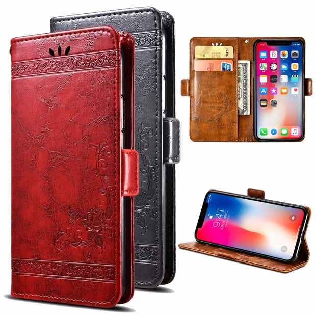 For Ulefone Gemini PU Leather Flip Cover Protectiv Phone Case With Card Slot Cash Clip Magnetic Closu For Ulefone Gemini