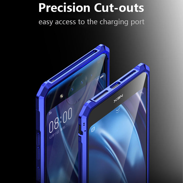 For Vivo Nex Dual Display Case Cover Luxury Slim Hard Metal Aluminum Alloy Shockproof Armor Bumper Phone Case For Vivo Nex2 Case