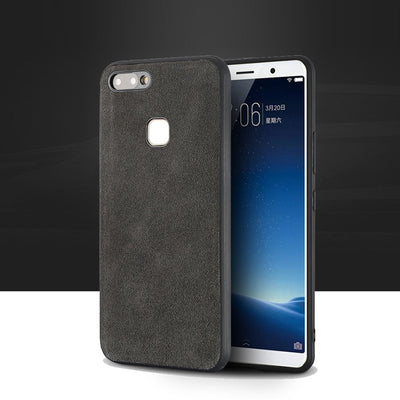 For Vivo X20 Plus Case Genuine Leather Cases For VIVO X9 X9s Plus Suede Leather Phone Cover All Hand-made Custom Processing