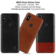 For Xiaomi Mi Mix 3 Case Card Slot PU Leather Cases IMAK Brand Luxury Slim Concise Series Phone Cover