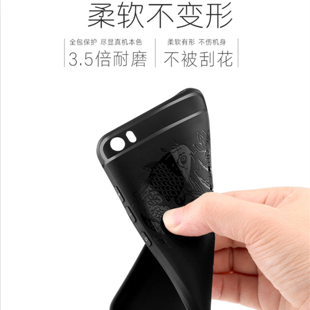 For Xiaomi Mi5 Case 3D Curved Anti-knock Armor Silicone Phone Back Cover For Xiaomi Mi 5 Slim Soft Matte Phone Shell Capa Fundas