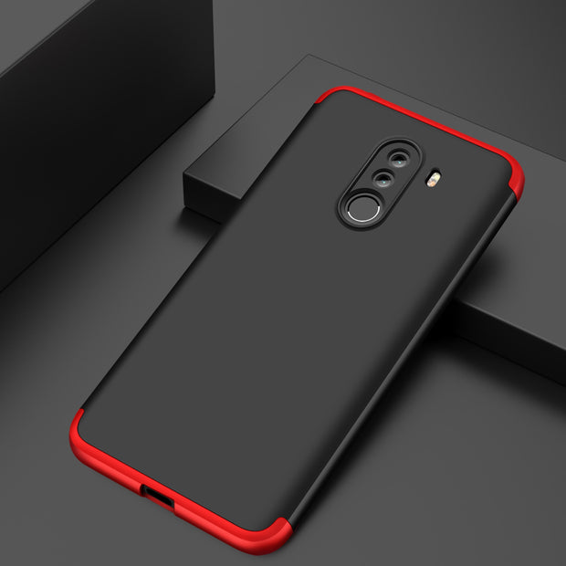 For Xiaomi Pocophone F1 Luxury 3-IN-1 Case 360 Degree Full Shockproof Frosted Shield Hard Back Cover Case For Xiaomi PocophoneF1