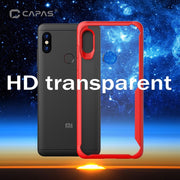 For Xiaomi Redmi Note 6 Pro Case Shockproof Bumper Silicone PC Transparent Clear Cover Luxury Armor Phone Case Protective Shield