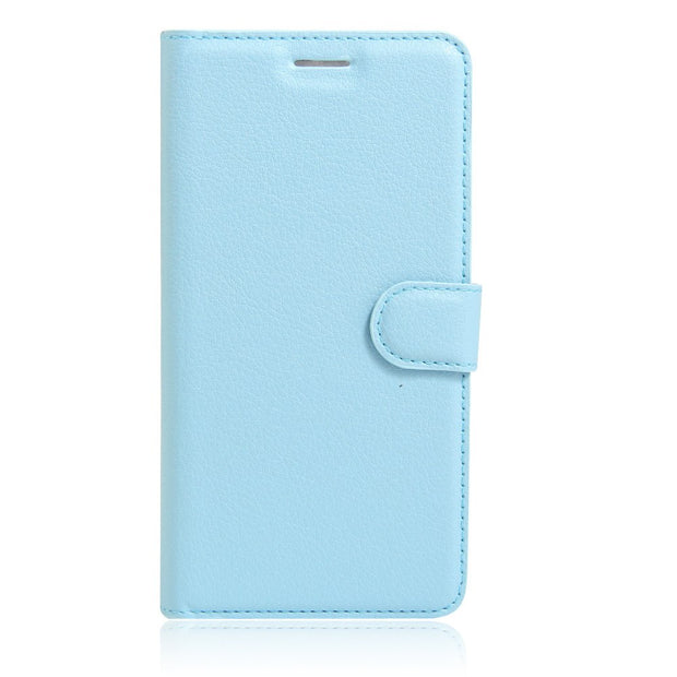 For ZTE Blade A450/A452/V7 Lite/L5 Plus/nubia Z11 Mini Phone Case Classic Lichi Leather Texture Flip Cover Wallet Protective Bag