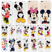 For IPhone XS Max XR X 6 6S 7 8 Plus Cute Cartoon Mouse Watercolor Clear Cover Case