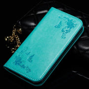 For Iphone 7 7Plus Retro Butterfly Printing Wallet Phone Case Leather Wallet Card Stand Case For Iphone 6S 6SPlus 5S SE 5C 4 4S