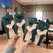 Full Back Cover For Samsung Galaxy S7 Edge S8 S9 Plus Note8 9 Capa Coque Cute Rabbit In Scarf Bunny Animal Soft Green Phone Case