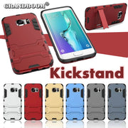 GRANDBOOM Hard PC+TPU Hybrid Armor Protective Case For Samsung Galaxy S7 / S7 Edge With Stand Holder Shock Proof Cover 50pcs/lot