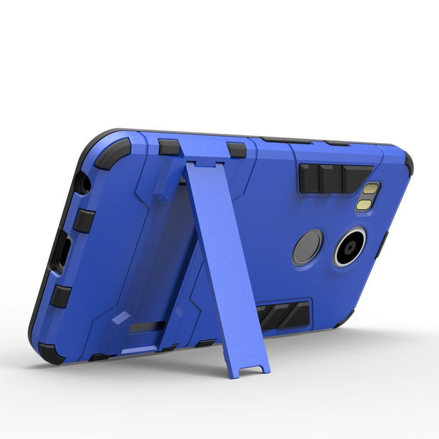 GRANDBOOM High Quality For LG Nexus 5X Stylus 2 LS775 K520 K7 K10 V10 V20 Hard PC+TPU Case Hybrid Armor With Stand Holder 50pcs