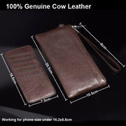 Genuine Cow Leather Hand Strap Mobile Phone Pouch Case Bag For Xiaomi Black Shark,Redmi S2/Y1/Y1 Lite,Mi Mix 2s,Redmi Note 5 Pro