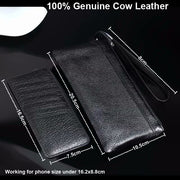 Genuine Cow Leather Hand Strap Mobile Phone Pouch Case Bags For HTC Desire 10 Lifestyle/10 Pro,Desire 728/828/825,One X9/E9S/M9+