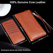 Genuine Cow Leather Hand Strap Mobile Phone Pouch Case Bags For Huawei P20/P20 Pro/P20 Lite,Y9 (2018),Honor View 10,P Smart