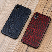 Genuine Leather Phone Case For IPhone X Case Lizard Skin Texture Soft Edge Protective Cover For 6 6S 6P 6SP 7 7P 8 8P Plus