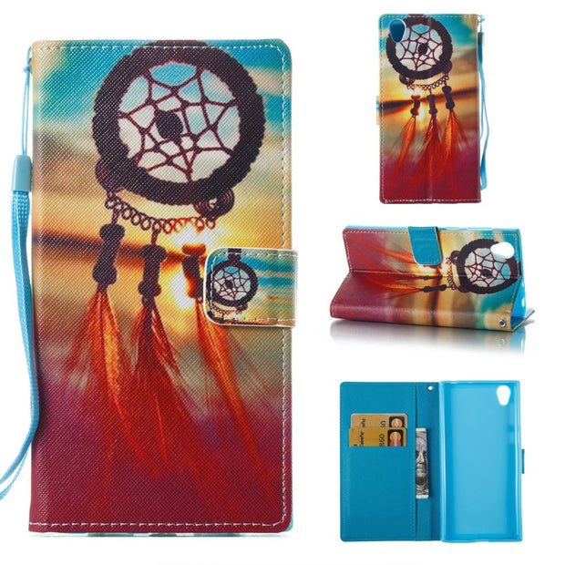 Girls Mandala Owl Flower Flip Wallet ID Card Stand Holder Shockproof Phone Cases For Sony Xperia L1
