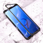 Glass Magnetic Suction Border Fabala Full Cover 360 Degree Metal Tempered For Samsung S9/S9Plus /S8 /S8 Plus