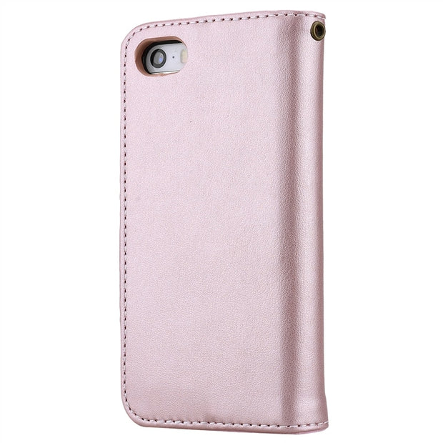 GrandEver Luxury Rose Flip Case For IPhone 5 5s SE Case Leather Magnetic Embossing Fundas For IPhone SE Case Leather Cover