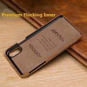 HOTR Real Leather Stitching Back Case For Iphone 6 6 Plus 6s 6s Plus Ultra Slim Leather Case For Iphone 7 7 Plus 8 8 Plus X Case