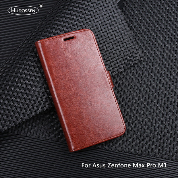 HUDOSSEN For ASUS Zenfone Max Pro M1 ZB601KL Case Luxury PU Leather Back Cover For ZB601KL X00TD Case Flip Protective Phone Bag