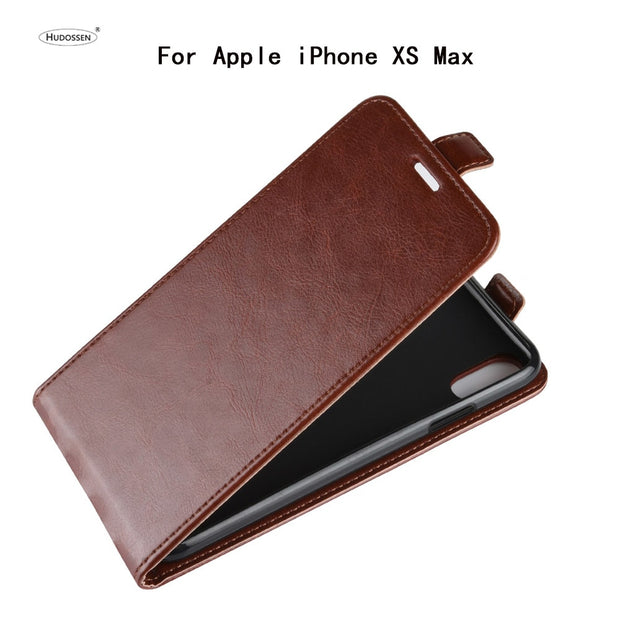 HUDOSSEN For Apple IPhone XS Case Luxury PU Leather Back Cover Case For IPhone XS Max Case Flip Protective Phone Bags Skin