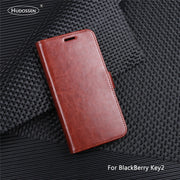 HUDOSSEN For BlackBerry Key2 BBF100-1 Case Luxury Flip Leather Back Cover Phone Accessories Bags Skin For BlackBerry Athena Case