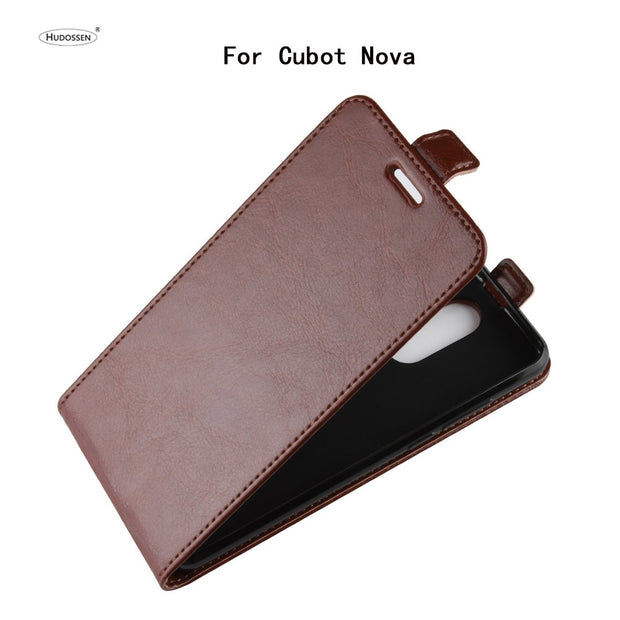 HUDOSSEN For Cubot Nova Phone Case Luxury Vertical Flip PU Leather Back Cover Coque For Cubot Nova Protective Case Para