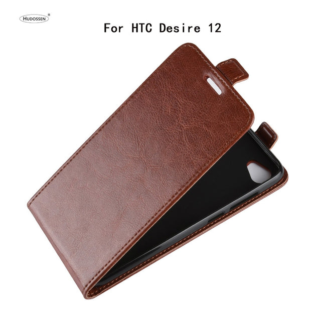 HUDOSSEN For HTC Desire 12 Case Luxury Flip Leather Back Cover Phone Accessories Bags Skin Coque For HTC Desire 12 Para