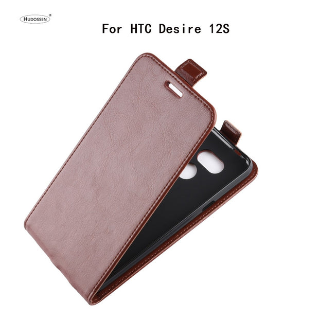 HUDOSSEN For HTC Desire 12s Case Luxury Flip Leather Back Cover Phone Accessories Bags Skin Coque For HTC Desire 12S Para