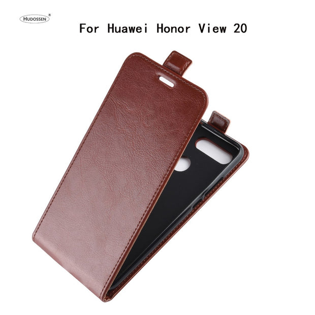 HUDOSSEN For Huawei Honor View 20 PCT-LX9 PCT-L29 Luxury Flip Case PU Leather Cover For Honor View20 Protective Phone Housing