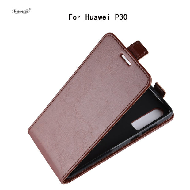 HUDOSSEN For Huawei P30 Case Luxury Flip PU Leather Silicone Phone Back Cover For Huawei P30 Protective Cases