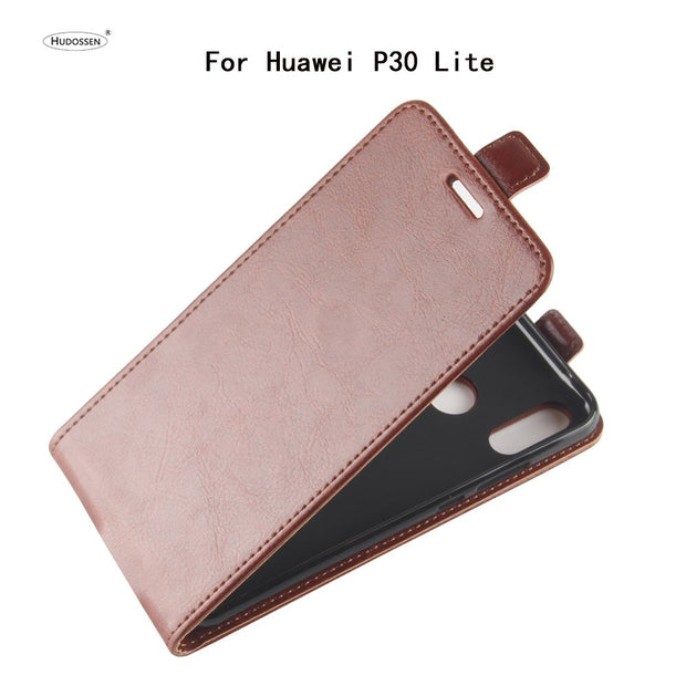 HUDOSSEN For Huawei P30 Lite Case Luxury Flip PU Leather Silicone Phone Back Cover Case For Huawei P30 Lite