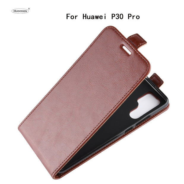 HUDOSSEN For Huawei P30 Pro Phone Case Luxury Vertical Flip PU Leather Cover Coque For Huawei P30 Pro Protective Case Para