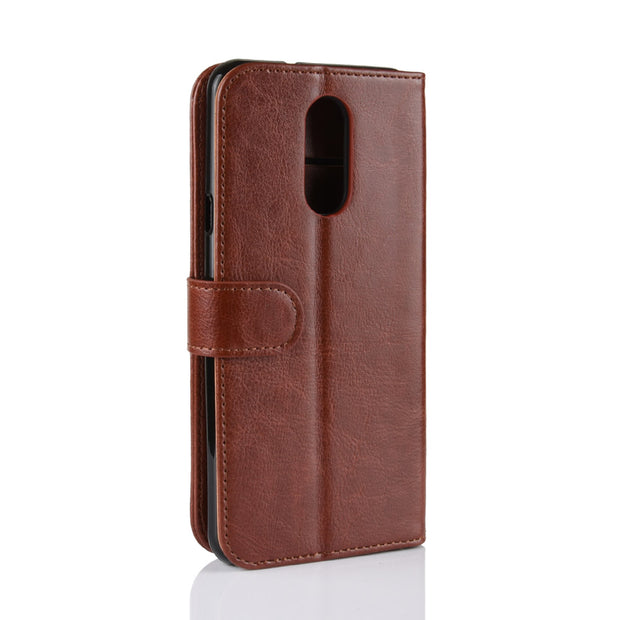 HUDOSSEN For LG Q Stylo 4 Q710MS Case Cover Coque Luxury Case PU Leather Flip Wallet Stand Cover For LG Stylo 4 Phone Bags Cases