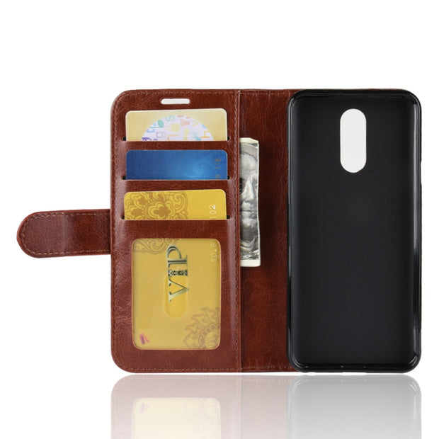 HUDOSSEN For LG Q7 LM-Q610EM Case Cover Coque Luxury Case PU Leather Flip Wallet Stand Cover For LG Q7+ Q 7 Phone Bags Cases
