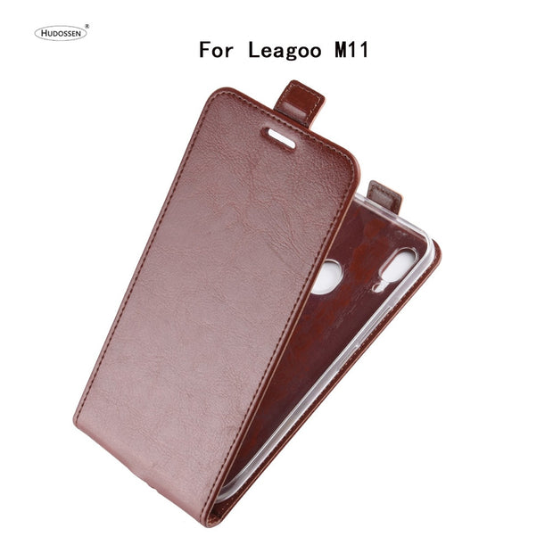 HUDOSSEN For Leagoo M11 Case Luxury PU Leather Back Cover Coque For Leagoo M11 Case Flip Protective Phone Bags Skin Para