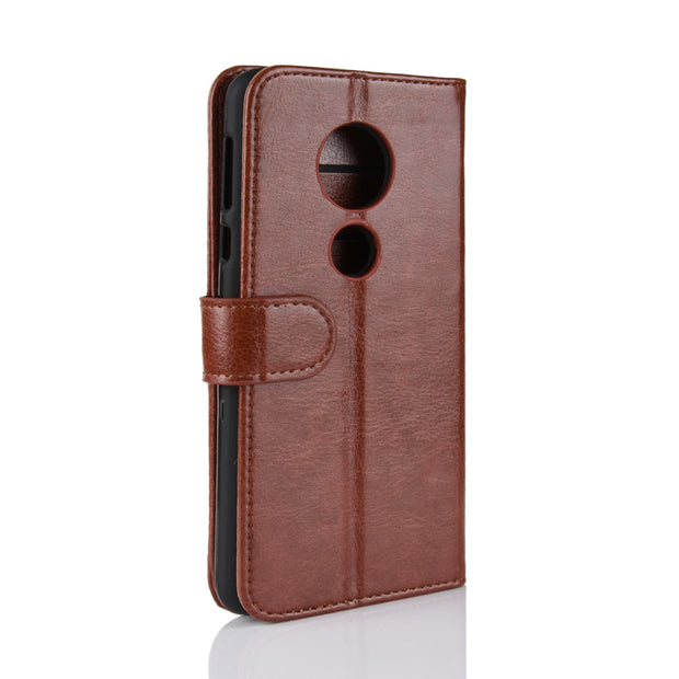 HUDOSSEN For Motorola Moto E5 Play XT1921 Case Luxury PU Leather Back Cover For Moto E Play 5th Gen Case Flip Protective Bag
