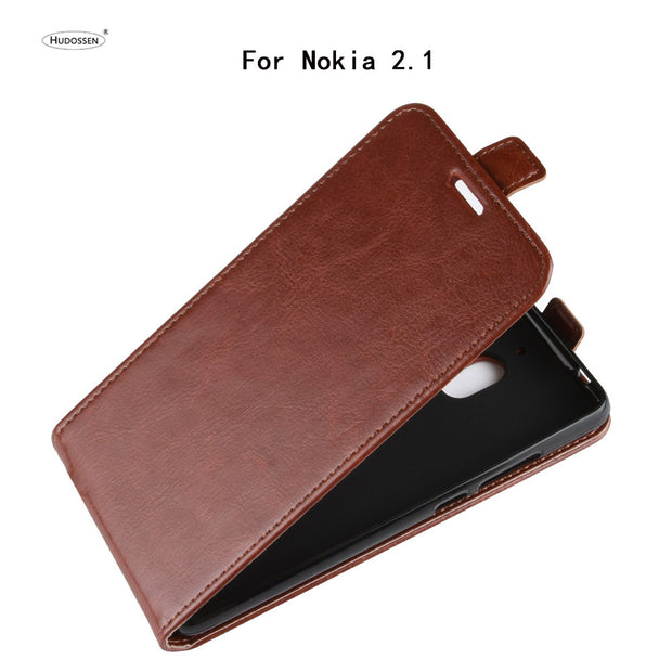 HUDOSSEN For Nokia 2.1 Case Luxury Flip Leather Back Cover Phone Accessories Bags Skin Coque For Nokia 2.1 TA-1080 TA-1092 Case