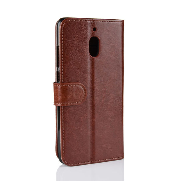 HUDOSSEN For Nokia 2.1 TA-1080 TA-1092 Luxury Flip Case Leather Back Cover Coque For Nokia 2.1 Protective Phone Housing Para