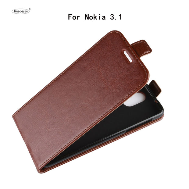 HUDOSSEN For Nokia 3.1 Case Luxury Flip Leather Back Cover Phone Accessories Bags Skin Coque For Nokia 3.1 TA-1063 TA-1057 Case