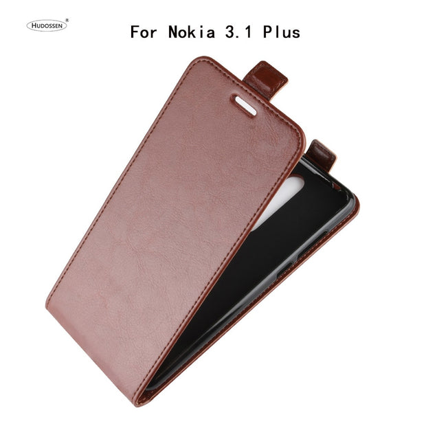 HUDOSSEN For Nokia 3.1 Plus TA-1118 Case Luxury Flip Leather Back Cover Phone Accessories Bags Skin For Nokia 3.1 Plus 3.1+ Case