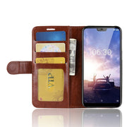 HUDOSSEN For Nokia X6 TA-1099 Case Luxury Flip Leather Back Cover Phone Accessories Bags Skin For Nokia X6 X 6 Case
