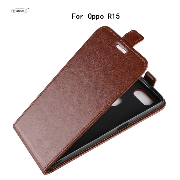 HUDOSSEN For OPPO R15 PACM00 PACT00 Case Luxury PU Leather Back Cover Coque For OPPO R15 R 15 Flip Protective Phone Bags Skin