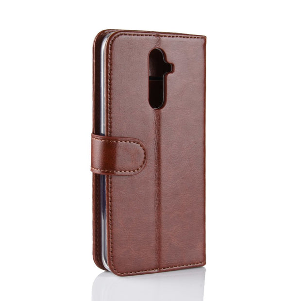 HUDOSSEN For OUkitel K5 Case Luxury PU Leather Back Cover Coque For Oukitel K5 Case Flip Protective Phone Bags Skin Cacars