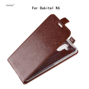 HUDOSSEN For Oukitel K6 Case Luxury Flip Leather Back Cover Phone Accessories Bags Skin Coque For Oukitel K6 K 6 Case