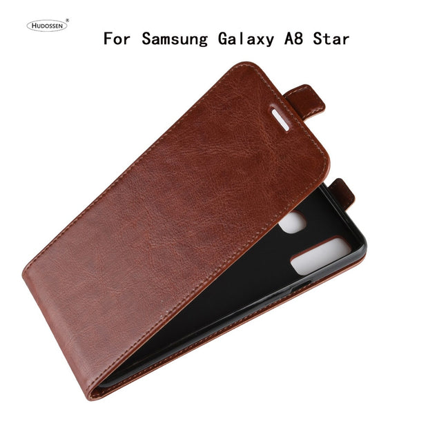 HUDOSSEN For Samsung Galaxy A8 Star G8850 Case Luxury Flip Leather Back Cover Phone Accessories Bags Coque For Galaxy A8 Star